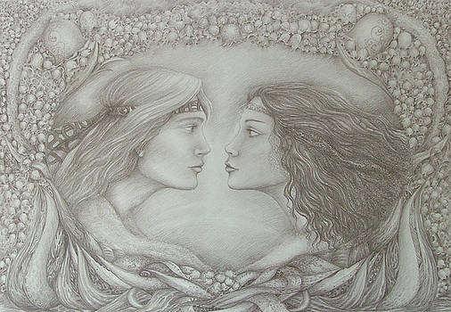 Spring Lovers With Snowdrops by Rita Fetisov