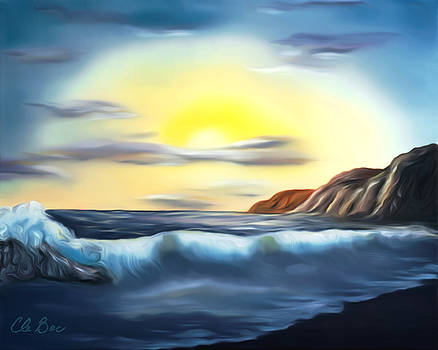 Claude Beaulac -  Sunset Beach Pastel Splash Dreamy Mirage