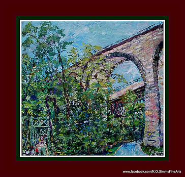 Swinging Bridge  by Keith OBrien Simms