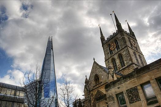 The Shard and Southwark Cathedral by Chris Day