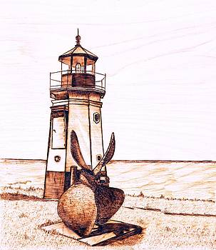 Vermilion Lighthouse by Danette Smith