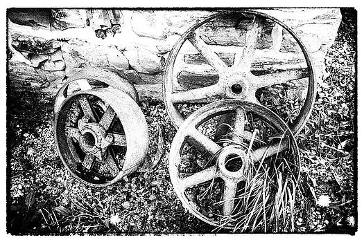 Wheels of Wades Mill by Keith Bowen