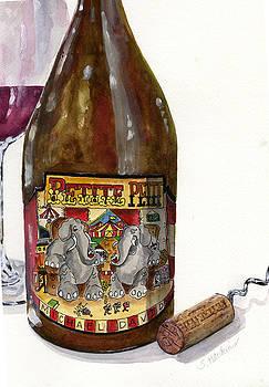 Wine Bottle  and Cork Still Life by Sheryl Heatherly Hawkins