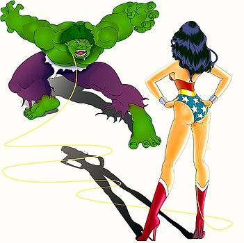 Wonder Woman Vs Hulk by Lynn Rider