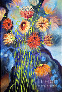 01314 African Daisies by AnneKarin Glass