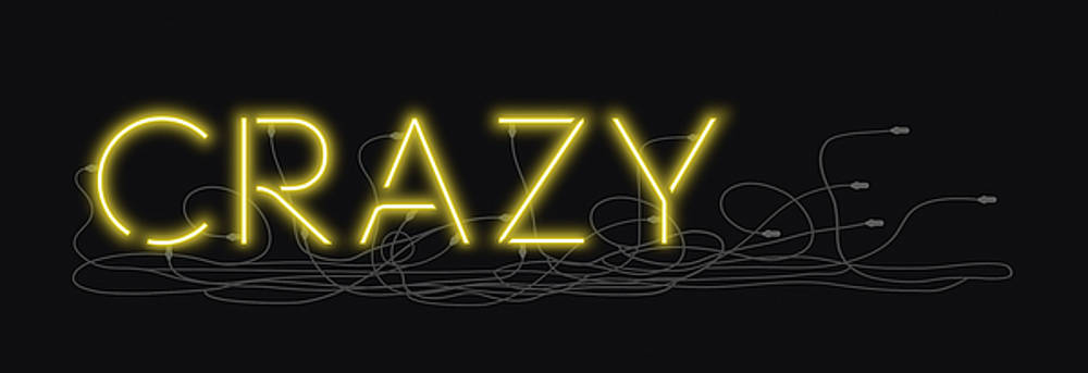 David Hargreaves - Crazy - Neon Sign 3