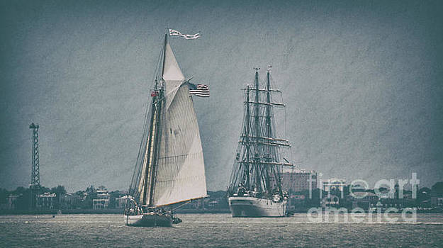 Charleston Tall Ships Sailing by Dale Powell