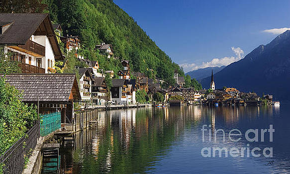 Riverfront  Reflection Austria  by Heinz G Mielke