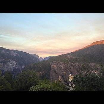 Sunset at Half Dome Yosemite by Roomana Patel