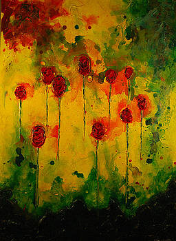 10 Red Roses  by Marabeth Quin