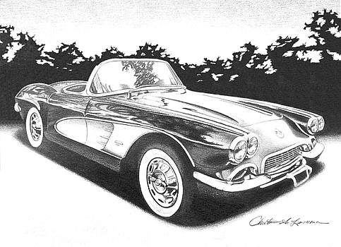 '1958 Corvette' by Christine Lawrence