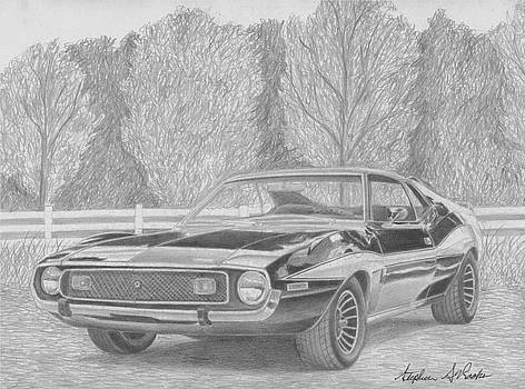 1974 AMC Javelin MUSCLE CAR ART PRINT by Stephen Rooks