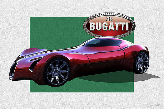 Serge Averbukh - 2025 Bugatti Aerolithe Concept with 3 D Badge