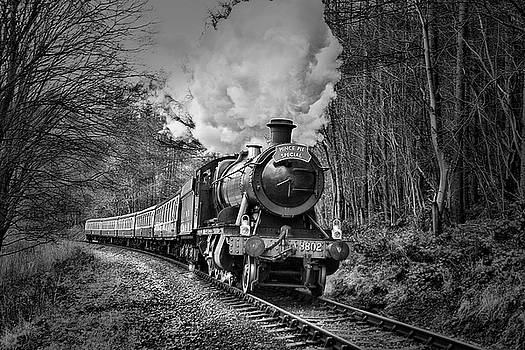 3802 Mince pie special on the Llangollen line. by Andrew Munro