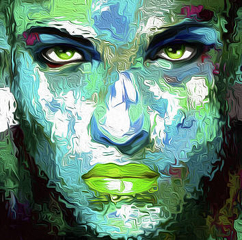 73 Abstract Face by Nixo by Nicholas Nixo