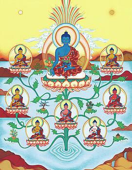 8 Medicine Buddhas by Carmen Mensink