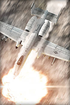 A-10 Thunderbolt II by David Collins