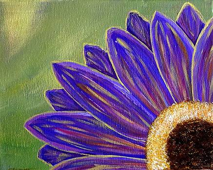 Purple Gerbera Daisy Flower by Tara Cordero