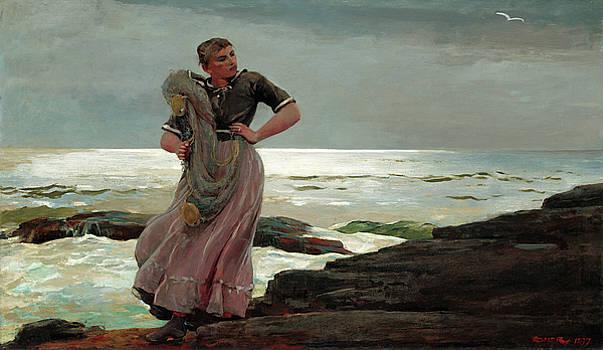 Winslow Homer -  A Light on the Sea