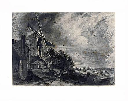 David Lucas after John Constable - A Mill