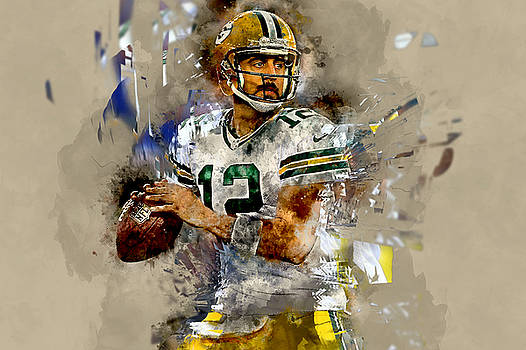 Aaron Rodgers by Marvin Blaine