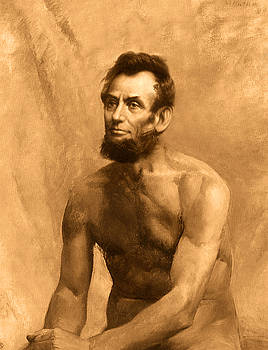 Abraham Lincoln Nude by Karine Percheron-Daniels