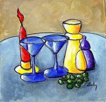 Grapes n Candles by Barbara Lemley