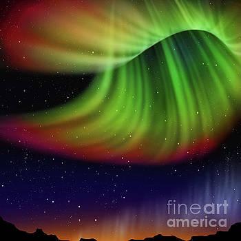 Abstract aurora  by Atiketta Sangasaeng