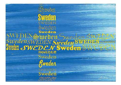 Abstract Flag of Sweden by Sannel Larson