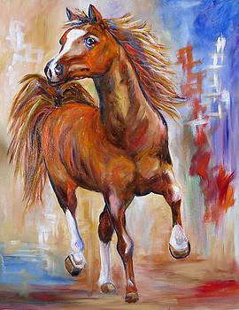 Abstract Horse Attitude by Mary Jo Zorad