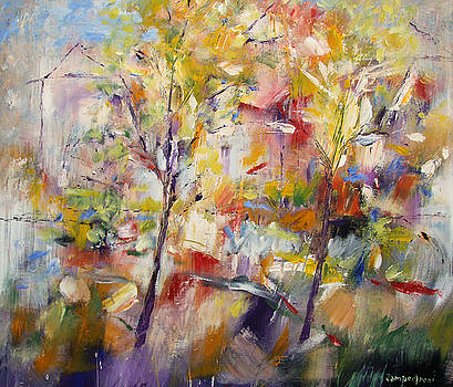 Abstract landscape by Mario Zampedroni