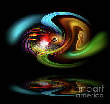 Abstract perfection - Magical Light and Energy 2 by Walter Zettl