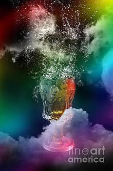 Abstract Rainbow Glass by Barbara Dudzinska