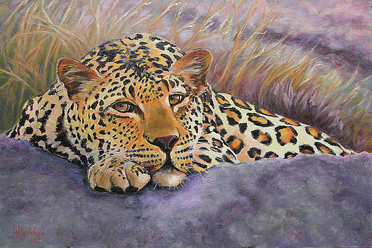 African Leopard by Katy Widger