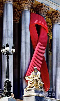 Aids Awareness Ribbon on Austrian Parliament by Mirko Dabic