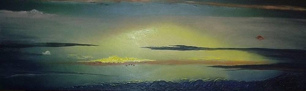 Alaskan Sunset by Anna Villarreal Garbis
