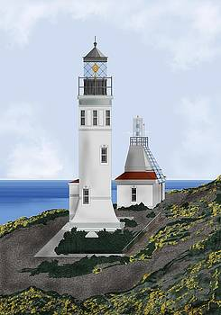 Anacapa Lighthouse California by Anne Norskog