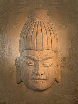 antique oil effect Buddha Burmese. by Terrell Kaucher