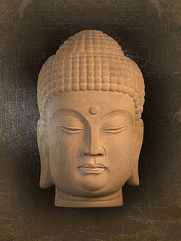 antique oil effect Buddha Korean ,, by Terrell Kaucher