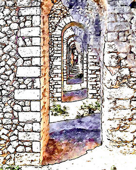 Arches of the Roman temple by Giuseppe Cocco
