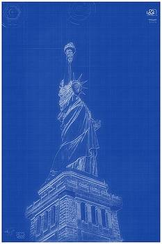 Celestial images artwork for sale chicago il united states archtecture blueprint statue of liberty by celestial images malvernweather Choice Image