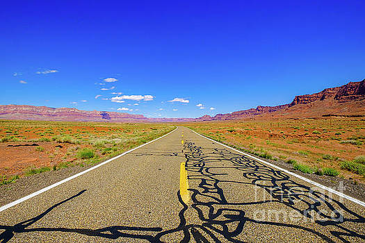 Arizona Desert Highway by Raul Rodriguez
