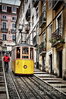 Ascensor da Bica, Lisbon, Portugal by Colin and Linda McKie