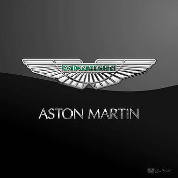 Serge Averbukh - Aston Martin 3 D Badge on Black