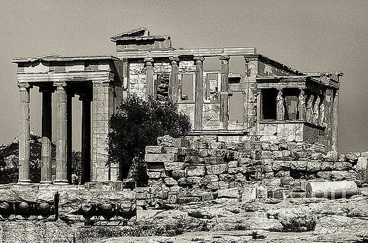 Athens Erechtheion Two 3 by Bob Phillips