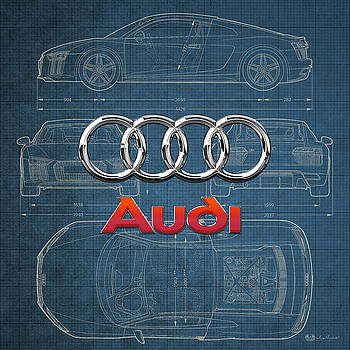 Serge Averbukh - Audi 3 D Badge over 2016 Audi R 8 Blueprint