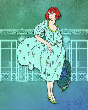 Nancy Lorene - Audrey in Aqua and Teal