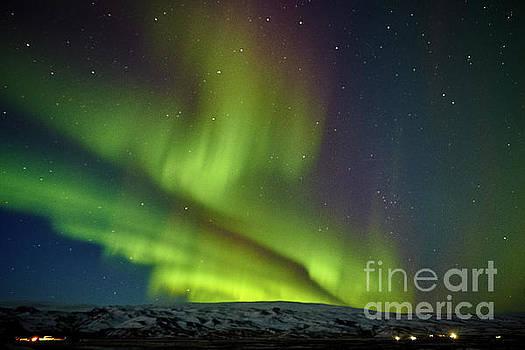 Aurora Borealis At Solheimasandur by Benjamin Wiedmann