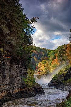 Autumn at the Lower Falls II by Rick Berk
