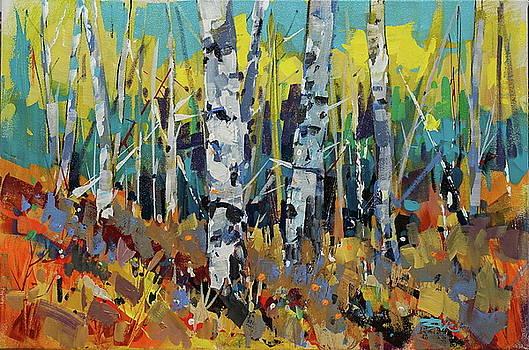 Autumn Birches by Brian Buckrell